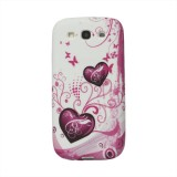 Полимерный TPU чехол Pink heart для Samsung i9300 Galaxy S 3