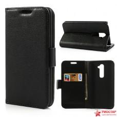 Кожаный Чехол Bruno Для LG G2 D802 (черный)