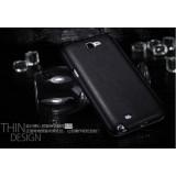Кожаный Чехол Nillkin Для Samsung N7100 Galaxy Note 2 Книжка (черный) + Защитная Пленка