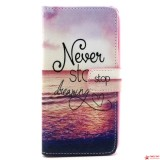 "Чехол Книжка Bruno ""Never stop dreaming"" Для Samsung Galaxy J2 Duos J200"