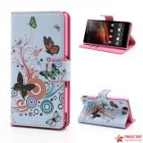 Чехол Книжка Для Sony Xperia Z L36i (бабочки)