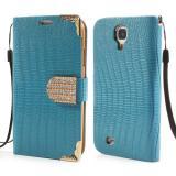 Кожаный Чехол Книжка Fimor Для Samsung Galaxy S5 (Голубой)