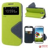 Чехол Книжка Roar Для Samsung I9500 Galaxy S 4 (Зеленый)