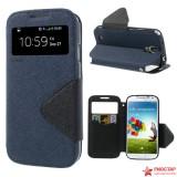 Чехол Книжка Roar Для Samsung I9500 Galaxy S 4 (Темно-синий)