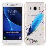 """Полимерный TPU Чехол """"Голубое перо"""" Для Samsung Galaxy J5 SM-J510H"""