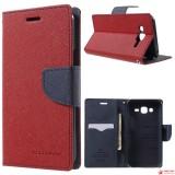 Чехол Книжка Mercury Для Samsung Galaxy J7 SM-J700H (Красный)