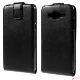 Кожаный Чехол Флип Для Samsung Galaxy J5 SM-J500H  (Черный)
