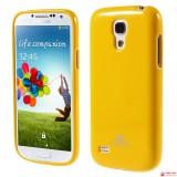 Полимерный TPU Чехол Mercury Для Samsung Galaxy S4 Mini Duos I9192 (Желтый)