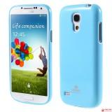 Полимерный TPU Чехол Mercury Для Samsung Galaxy S4 Mini Duos I9192 (Голубой)
