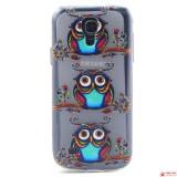 Полимерный TPU Чехол Для Samsung Galaxy S4 Mini Duos I9192 (Сова)
