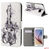 Чехол Книжка Bruno Для Samsung Galaxy S6 (Гитара)