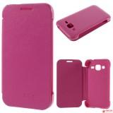 Чехол Книжка Textil Для Samsung Galaxy A5 Duos SM-A500  (Розовый)