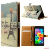 "Чехол Книжка City Style ""Эйфелева башня"" Для Samsung Galaxy Grand Prime Duos G530H/G531H"